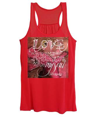 Inspirational Saying Love Women's Tank Top