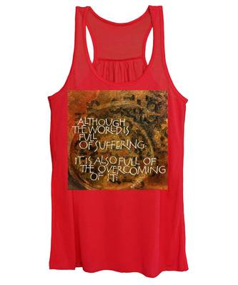 Inspirational Saying Overcome Women's Tank Top