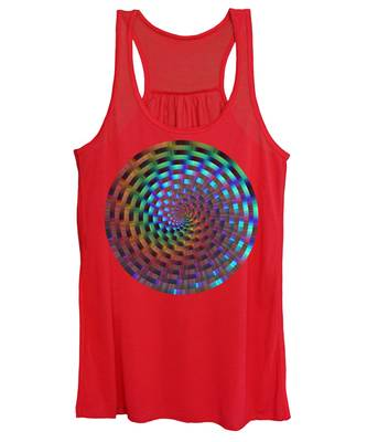 Rainbow Rings Spiral Women's Tank Top