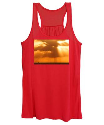 Sailboat Bathed In Hazy Rays Women's Tank Top