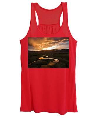 Sunrise Over Winding River Women's Tank Top