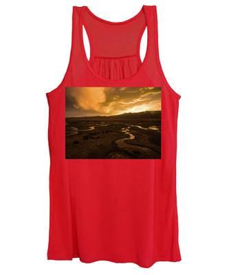 Sunrise Over Winding Rivers Women's Tank Top