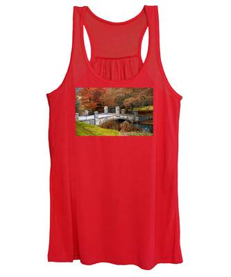The Bridge To Autumn By Mike Hope Women's Tank Top