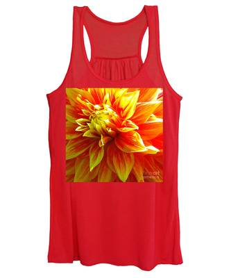 The Heart Of A Dahlia #2 Women's Tank Top
