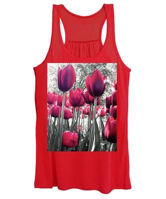 Tulips Tinted Women's Tank Top