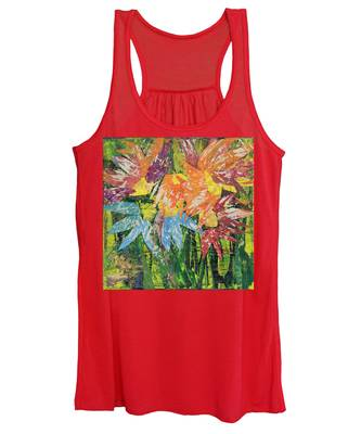 Zinnias Gone Mad Women's Tank Top