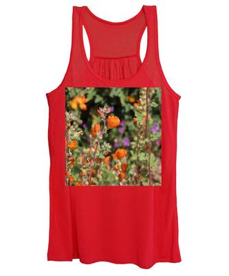 Women's Tank Top featuring the photograph Desert Wildflowers by Judy Kennedy