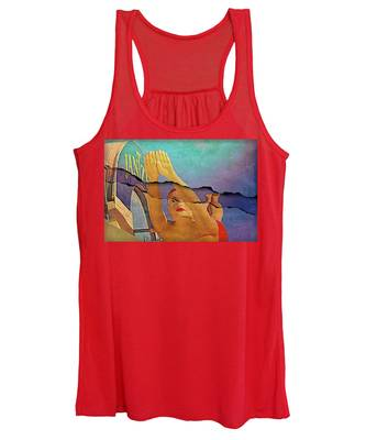Diving Girl Ripped Women's Tank Top by Alice Gipson