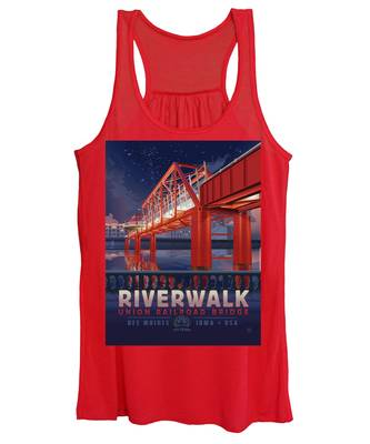 Union Railroad Bridge - Riverwalk Women's Tank Top