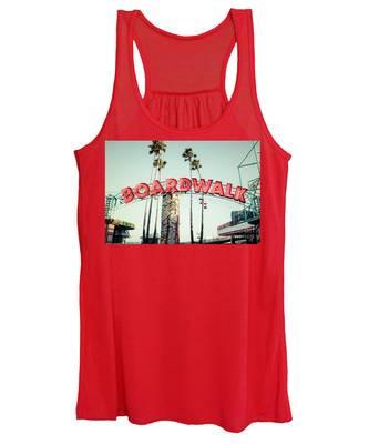 Details about  /Santa Cruz Beach California Womens White Tank Top