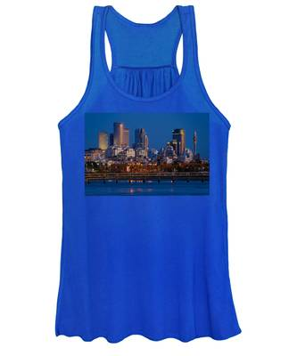 city lights and blue hour at Tel Aviv Women's Tank Top