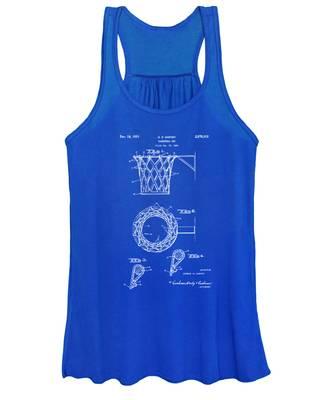 1951 Basketball Net Patent Artwork - Blueprint Women's Tank Top