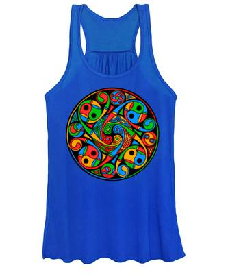 Celtic Stained Glass Spiral Women's Tank Top