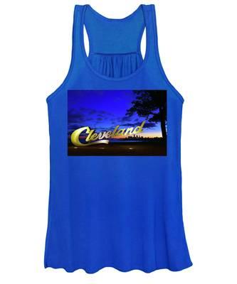 Cleveland Sign Sunrise Women's Tank Top