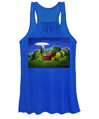 Feline Ufo Abduction Women's Tank Top
