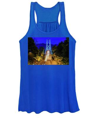 Lions Gate Bridge At Night Women's Tank Top