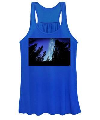 Milky Way Among The Trees Women's Tank Top