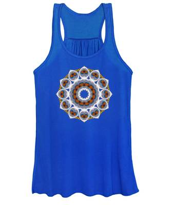 Peacock Fractal Snow Flower Women's Tank Top