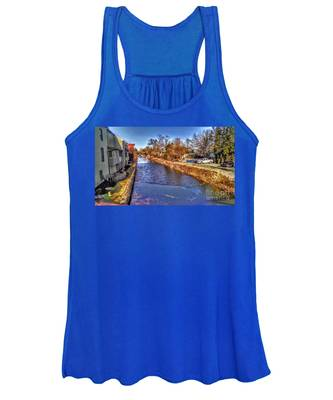 The Canal At New Hope In Winter Women's Tank Top