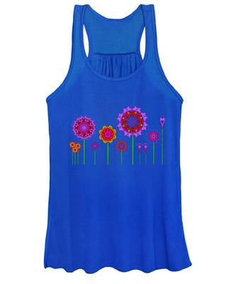 Whimsical Fractal Flower Garden Women's Tank Top