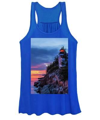 Bass Harbor Head Lighthouse At Twilight Women's Tank Top