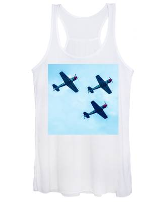 Action In The Sky During An Airshow Women's Tank Top
