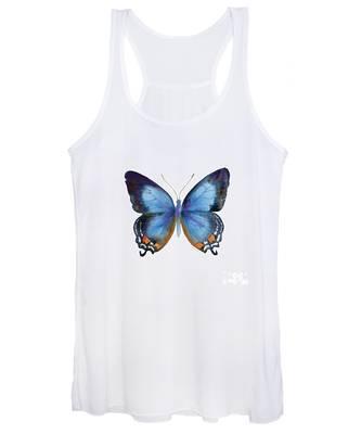 80 Imperial Blue Butterfly Women's Tank Top