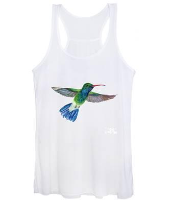 Broadbilled Fan Tail Hummingbird Women's Tank Top