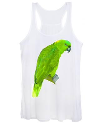 Green Parrot Women's Tank Top