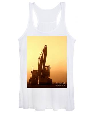 Sunset Excavator Women's Tank Top