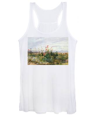 Wildflowers With A View Of Dublin Dunleary Women's Tank Top