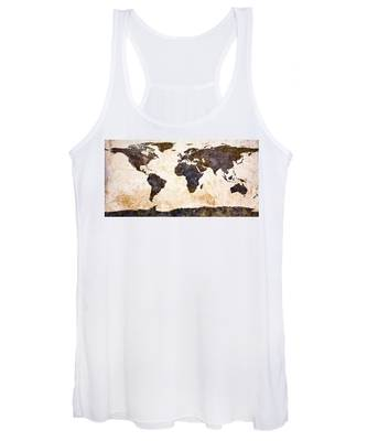 World Map Abstract Women's Tank Top