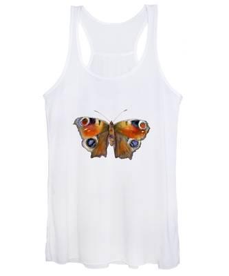 10 Peacock Butterfly Women's Tank Top