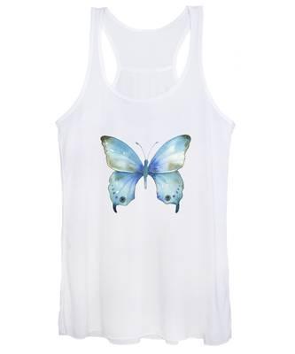 #109 Blue Diana Butterfly Women's Tank Top