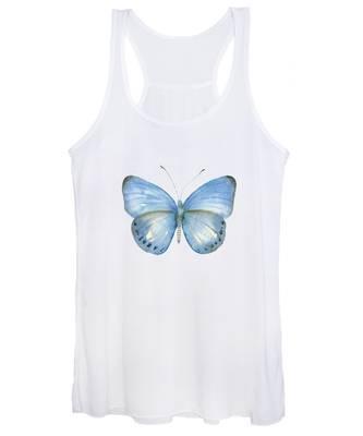 110 Blue Jack Butterfly Women's Tank Top