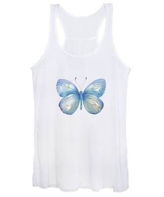 112 Blue Marcia Butterfly Women's Tank Top