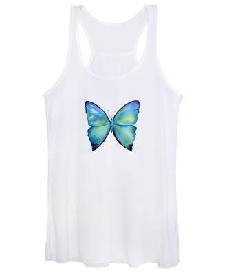 2 Morpho Aega Butterfly Women's Tank Top