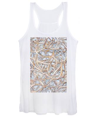 Weathered Elk Antlers Women's Tank Top