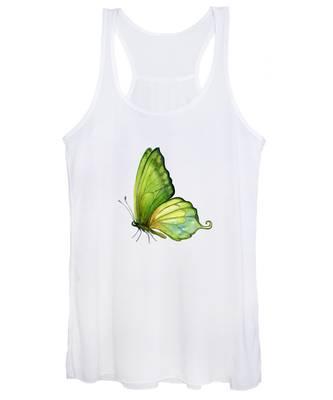 5 Sap Green Butterfly Women's Tank Top