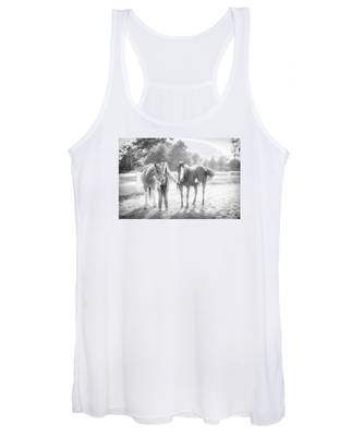 A Girl With Horses Women's Tank Top