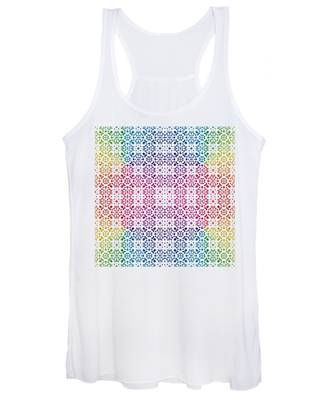 Batik Rainbow 100 - White Women's Tank Top