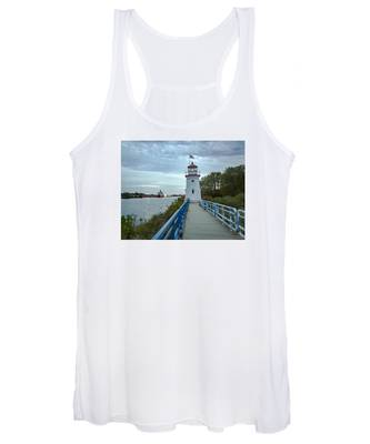 Cheboygan Crib Lighthouse Lake Huron, Lower Peninsula Mi Women's Tank Top
