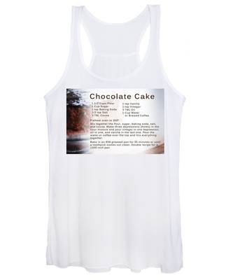 Chocolate Cake Recipe Women's Tank Top