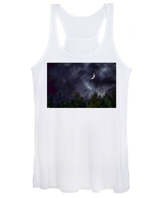 Moon Shine Over The Okanagan Women's Tank Top