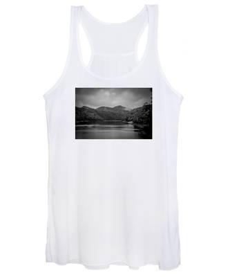 Nantahala River Great Smoky Mountains In Black And White Women's Tank Top
