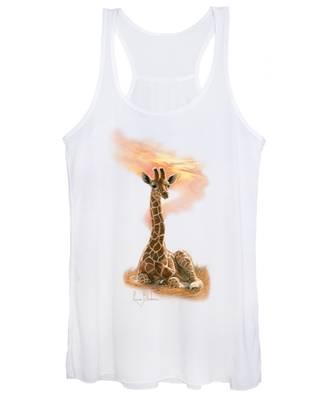 Newborn Giraffe Women's Tank Top