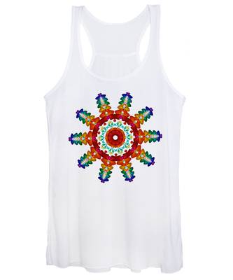 Rainbow Steampunk Sun Fractal Women's Tank Top