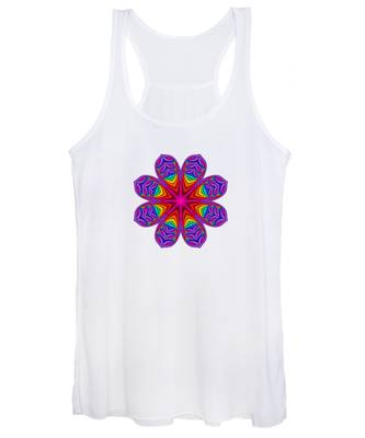 Satin Fractal Flower 3 Women's Tank Top
