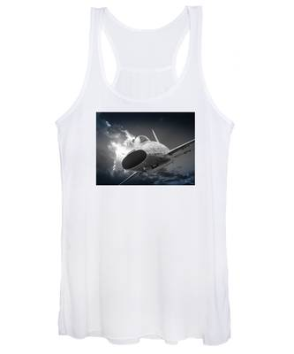 Super Sabre Rolling In On The Target Women's Tank Top