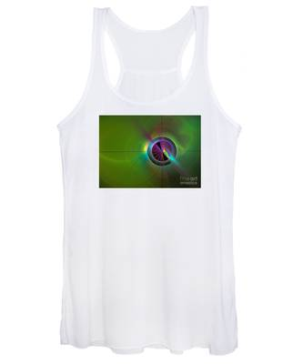 Theory Of Green - Abstract Art Women's Tank Top